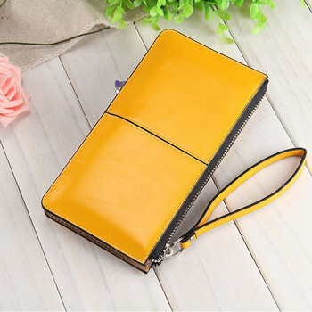 Fashion Capacious Leather Women's Wallet Bags and Wallets Hot Promotions New Arrivals Women's Wallets Color: Yellow