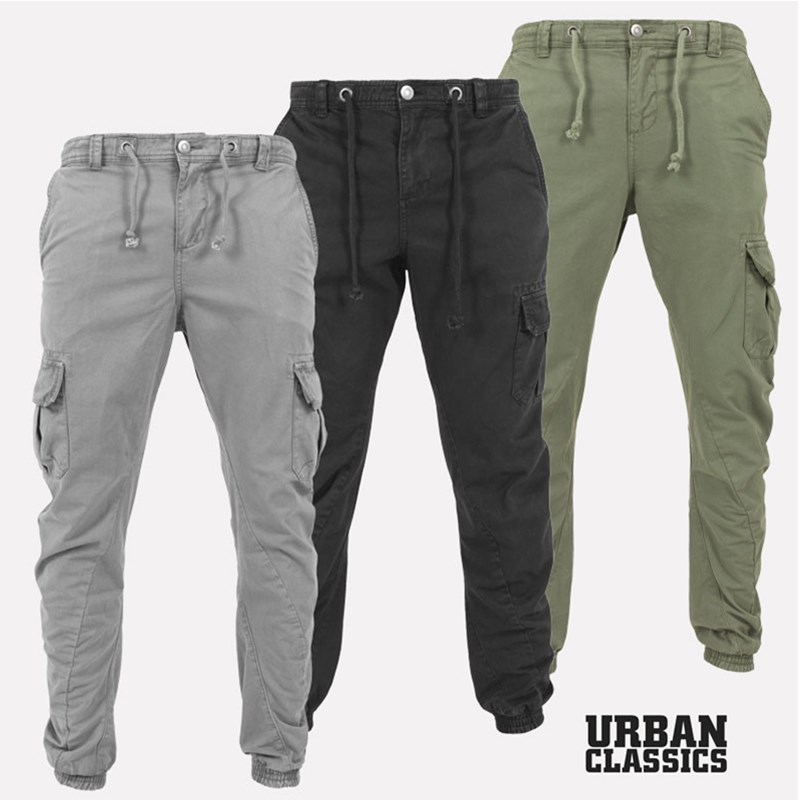 Men Solid Cotton Joggers Pants Solid Cargo Pants Men Sweatpants Male Multi-pocket Trousers Black Men's Sportswear Hip Hop Harem