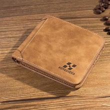 Men Wallet Leather ID Credit Card Holder Clutch Coin Purse Luxury Brand Wallet Frosted Short Wallets 2019 Men Wallet Coin Pocket brand genuine leather passport holder men wallet with passport pocket coin pocket multiple id card holder men wallets purses