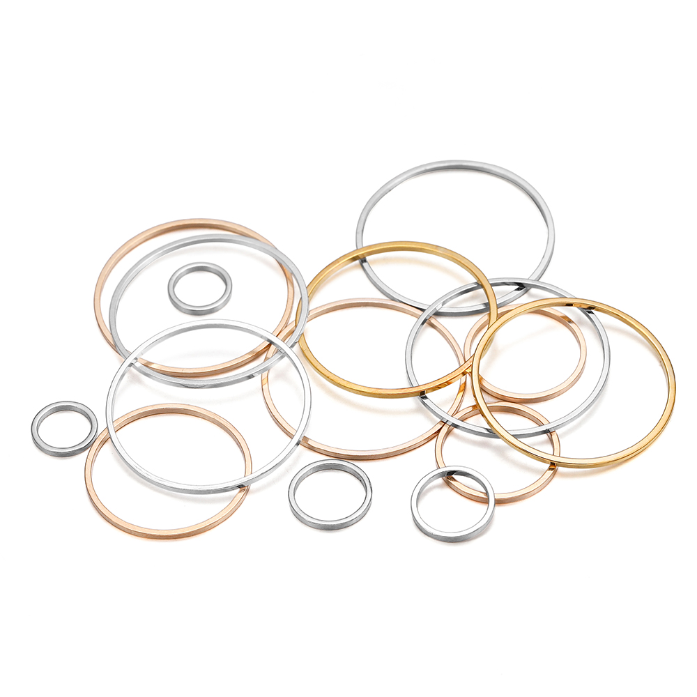 20-50pcs/lot 8-40mm Brass Closed Ring Earring Wires Hoops Pendant Connectors Rings For DIY Jewelry Making Supplies Accessories