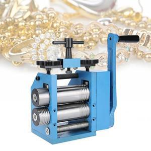 Image 2 - 品質鉄マニュアルコンビネーション圧延機ジュエリー打錠処理機器マニュアルローリングミルツール宝石