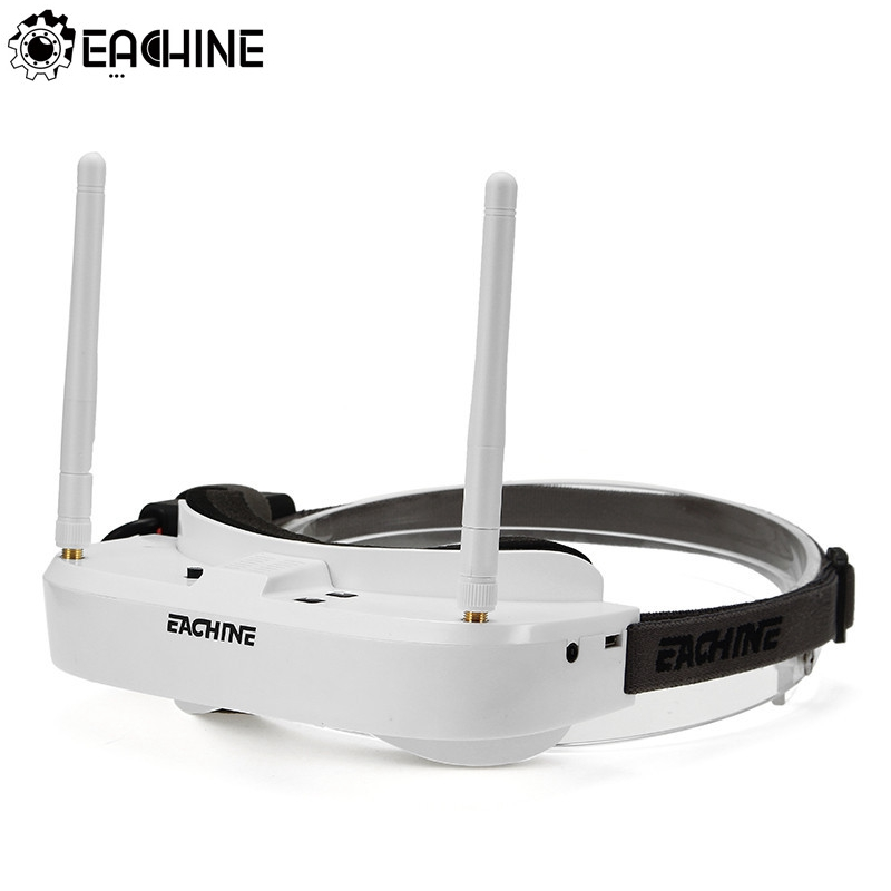 Original Eachine EV100 720*540 5.8G 72CH FPV Goggles With Dual Antennas Fan 7.4V 1000mAh Battery