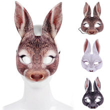 2019 Funny Unisex Party Mask Latex Cosplay Half Face Rabbit/Tiger Masks Masquerade Halloween Party Decor Halloween(China)