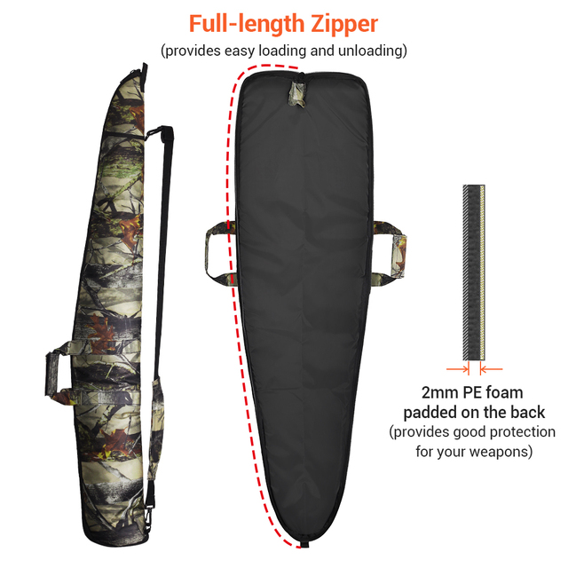 130CM Tactical Gun Bag Case 1200D Military Rifle Bag Outdoor Camouflage Concealed Hunting Accessories Shot Gun Carry Holsters 3