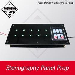 Stenograficzny Panel podpierający panel pamięci do ucieczki z pokoju na żywo wprowadź prawidłowe hasło przed minutnik  aby odblokować 999 rekwizytów