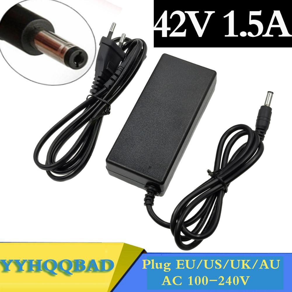 42V 1 5A polymer lithium battery charger 100-240v 5 5MM 2 1MM Portable Charger EU AU US UK Plug