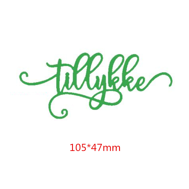 Tillykke Danish Word Die Cuts For Card Making Danish Word Tillykke Dies Scrapbooking Metal Cutting Dies New 2019 Decoration