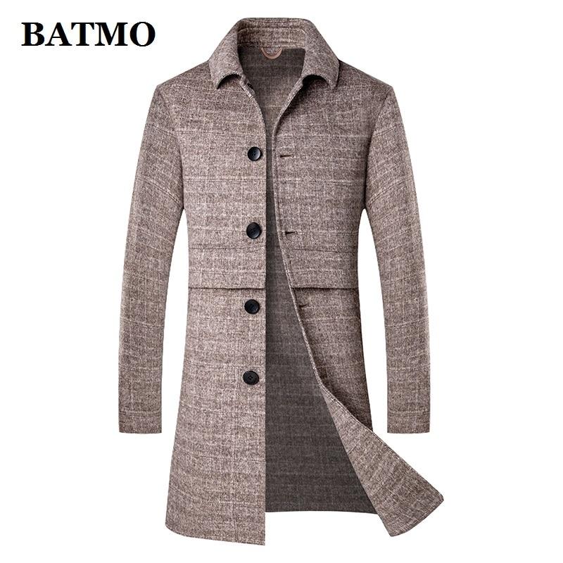 BATMO new arrival autumn wool trench coat men,men's wool jackets,men's wool warm coat 1933