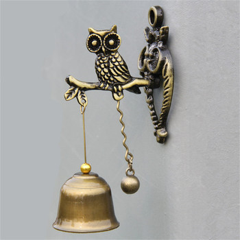 1PC Retro Horse Door Bell Small Alloy Doorbell Wind Chime with Iron Bell Wall De
