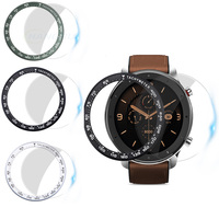 For Amazfit GTR 47MM Case Stainless Steel Watch Bezel Ring For Amazfit GTR 47MM Speed Tachymeter Tempered glass Protective Cover