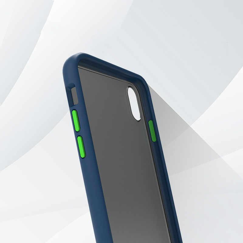 Матовый порошковый чехол для телефона iPhone XS Max XS X противоударный прозрачный мягкий ТПУ простой чехол для iPhone 7 6 S 8 Plus чехол