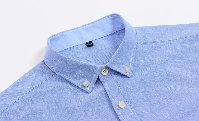 H69976779d01b49b8ad242cb4a9587c6d4 Men's Summer Pure Cotton Oxford Shirts Casual Slim Fit Design Short Sleeve Fashion Male Blouse Shirt