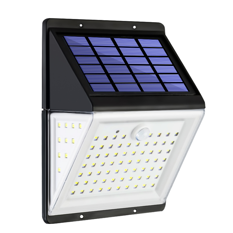 Split Multifunction LED Solar Light With Remote PIR Motion Sensor Solar Powered Waterproof Wall Lamp For Garden Yard Path