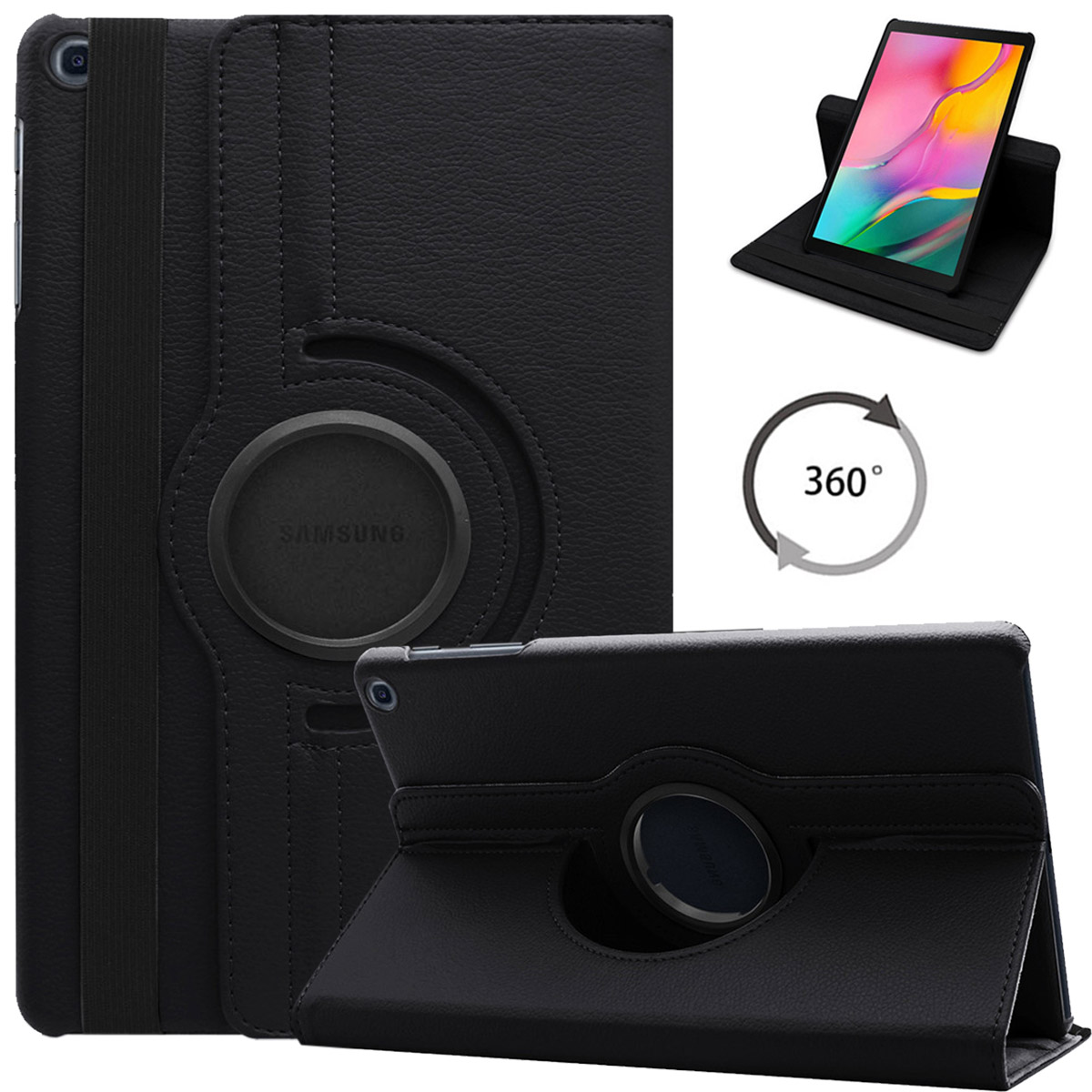 For Samsung Galaxy Tab S6 Lite Case, 360 Degree Rotating Stand Tablet Cover For Galaxy Tab S6 Lite 10.4 2020 SM-P610 SM-P615