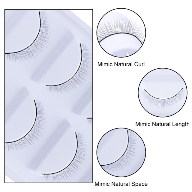 5Pair Makeup Training Lashes for Beginner False Eyelash Extension Practice Mink Lashes Full Strip Eyelashes Exercise Eye Beauty 3
