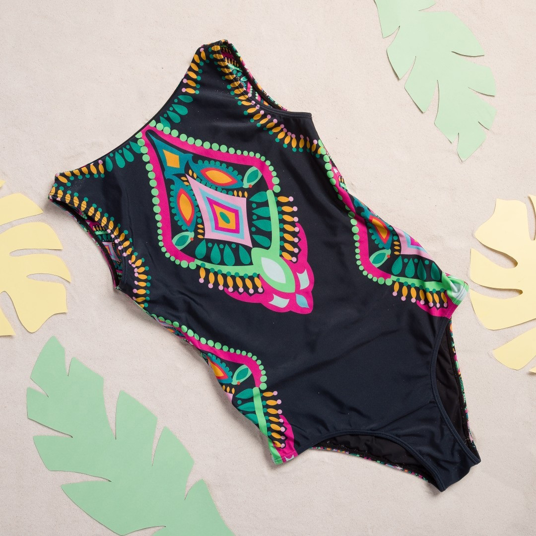 H6997e4dc5f6e4ac18278039f801f60bbC - Striped Women One Piece Swimsuit High Quality Swimwear Printed Push Up Monokini Summer Bathing Suit Tropical Bodysuit Female