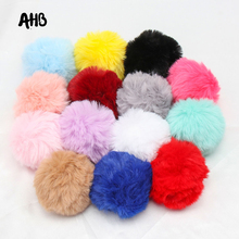 5Pcs/lot Big Pompom Ball 7.5cm Fur Plush For Handmade Key Ring Making Soft Material Foam DIY Craft Accessories