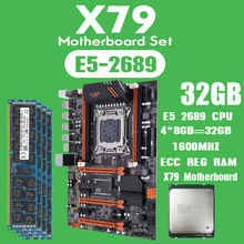 Kllisre X79 motherboard set with Xeon E5 2689 4x8GB=32GB 1600MHz DDR3 8GB ECC REG memory ATX USB3.0 SATA3 PCI E NVME M.2 SSD