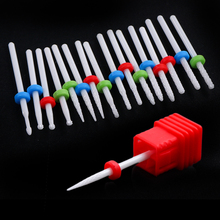 Ceramic Cuticle Remove Electric Nail Drill Bits Rotate Small Ball Burrs Grinder Cleaning Manicure Milling Cutter Files GLTX01-14