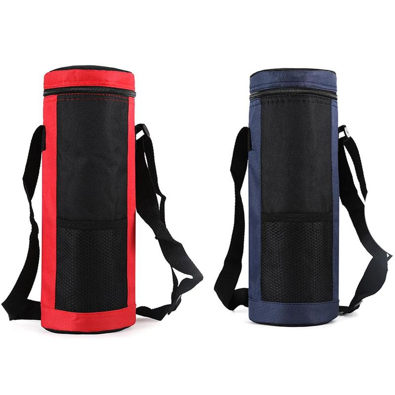 30oz Water Bottle Cup Mesh Insulated Bag Oxford Cloth Cover Bag Black