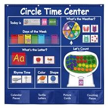 Center-Card-Bag Calendar Learning-Atlas Cycle-Time Children Preschool Letter Words