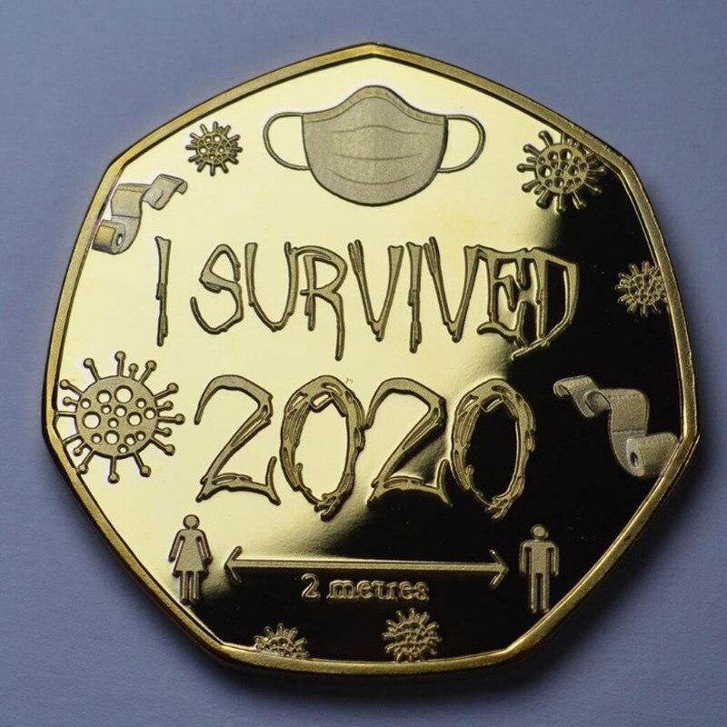 1 шт. я пережила 2020 медаль и Commemorativeset коллекционеров памятного подарка подарок домой Украшения Non-монеты иностранных валют
