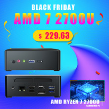 TOPTON Новое поступление мини-ПК AMD Ryzen 7 2700 четырехъядерный Vega 10 графический 2 * DDR4 M.2 NVME игровой компьютер Win 10 HDMI2.0 DP