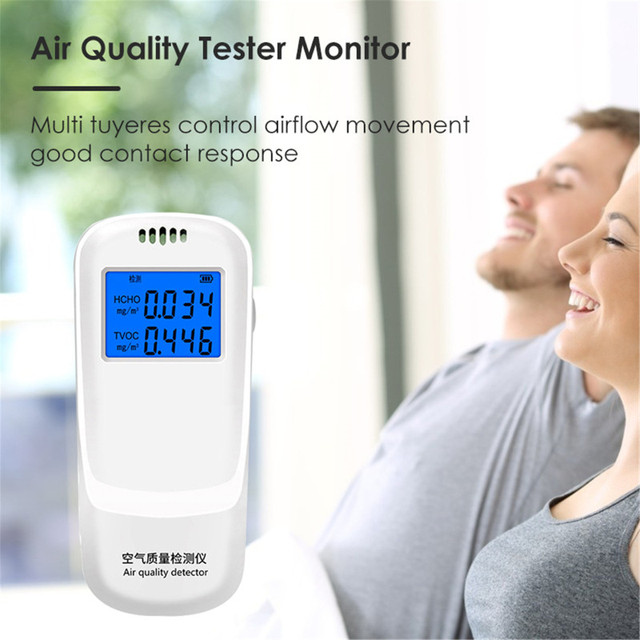 Air Quality Detector HCHO TVOC Tester 3D Convection Monitor LED Display Screen //
