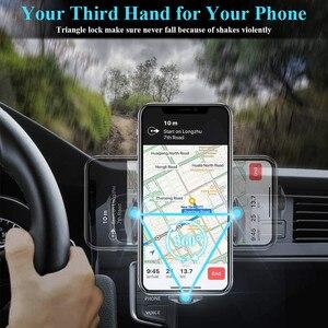 Image 3 - 10W QI chargeur de voiture sans fil RGB lumière automatique serrage rapide support de téléphone de charge dans la voiture pour iPhone XS 8 Huawei Samsung