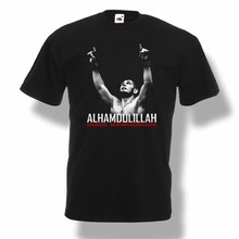 Khabib Nurmagomedov Alhamdulillah T-Shirt Fighter pro T-Shirt M 234XL K117(China)