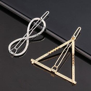 Fashion Metal Love Heart Hair Clip Elegant Star Round Barrette for Women Girls Sweet Hairpins Barrettes Hair Accessories 5