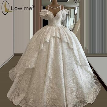 Best Offer 41c6d Princess Ball Gown Lace Wedding Dresses Sweetheart Neck Applique Beaded Ruched Bridal Gowns Vestido De Noivas Custom Made Cicig Co