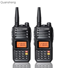 2PCS Upgrade Walkie-Talkie QuanSheng TG-UV2 More than 10W Long Range Walkie Talkie 10KM 4000mah Radio Vhf uhf Dual Band Long Sta
