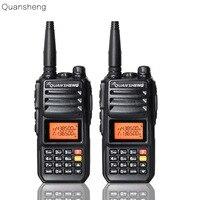 2PCS Upgrade Walkie Talkie QuanSheng TG UV2 More than 10W Long Range Walkie Talkie 10KM 4000mah Radio Vhf uhf Dual Band Long Sta