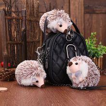 FXM 10cm cute hedgehog plush keychain creative anime bag pendant key ring