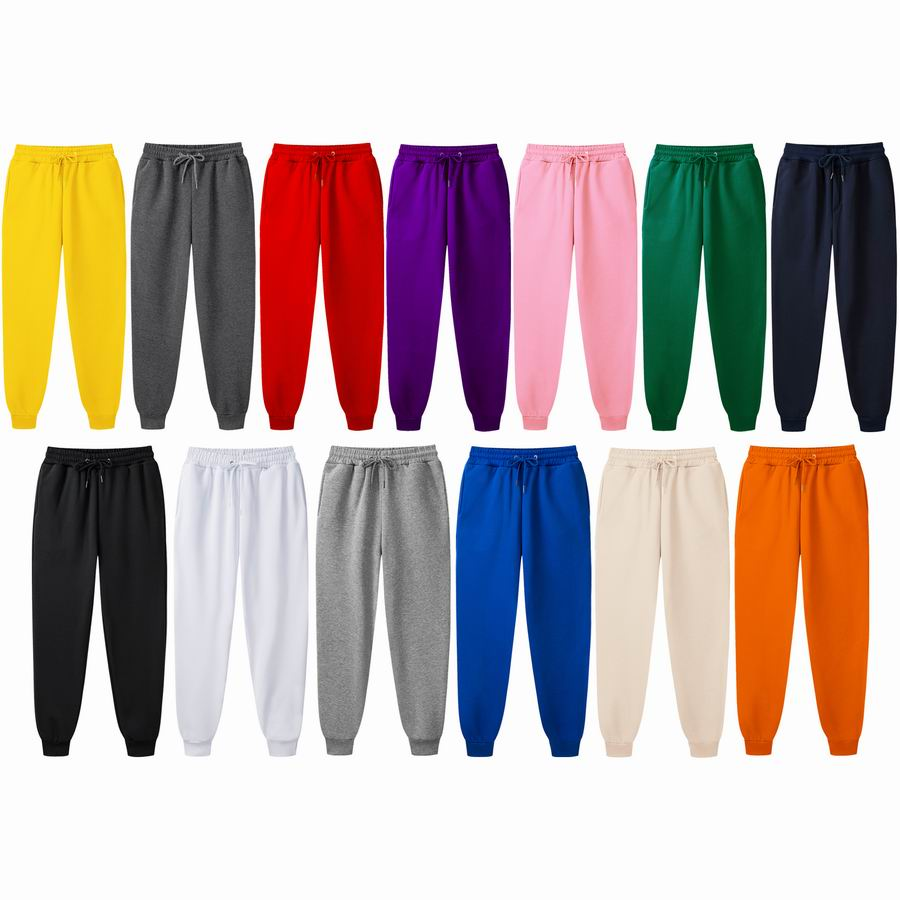 Men's Casual Sport Long Pants Mid Waist Slim Fit Trousers Solid Color Comfortable Running Joggers Sweatpants For Male Fashion
