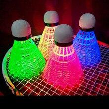 4 шт красочное освещение наружный Спорт перо Волан светодиодный ночной бадминтон открытый развлечения световые шары аксессуары