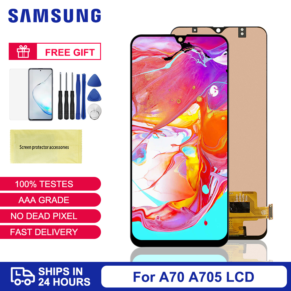 6.7'' TFT For <font><b>Samsung</b></font> <font><b>A70</b></font> <font><b>LCD</b></font> For <font><b>Samsung</b></font> Galaxy <font><b>A70</b></font> A705 SM-A705F Display Screen Replacement For <font><b>Samsung</b></font> <font><b>A70</b></font> A705 Disply Screen image