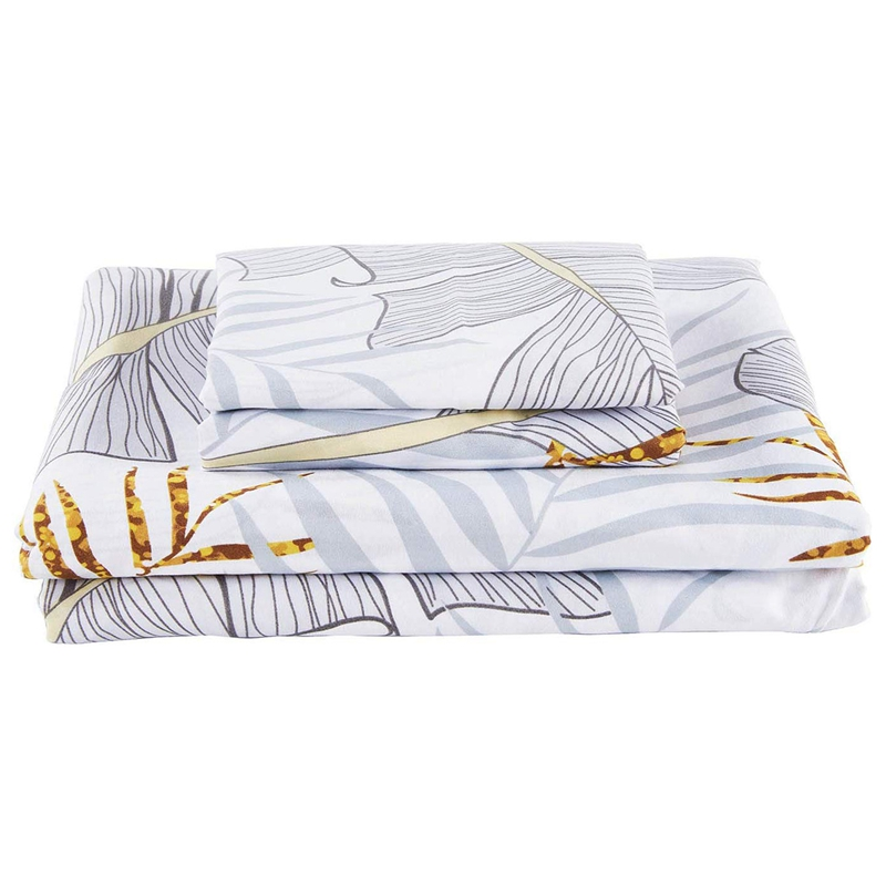 3-Piece Classic Cotton Down Quilt Set High Cotton Quilt Cover Zip Closure Angle Tie Brushed Quilt Cover