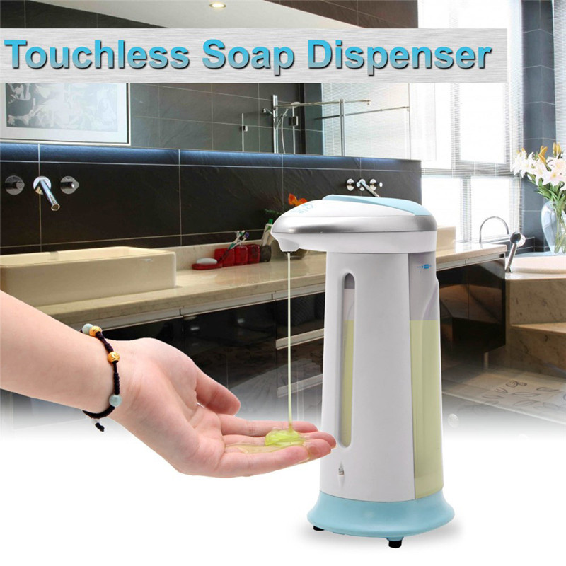 Yooap 400ml Automatic Liquid Soap Dispenser Bathroom Kitchen Touchless Smart Sensor ABS White Hand Free Automatic Soap Dispenser in Liquid Soap Dispensers from Home Improvement