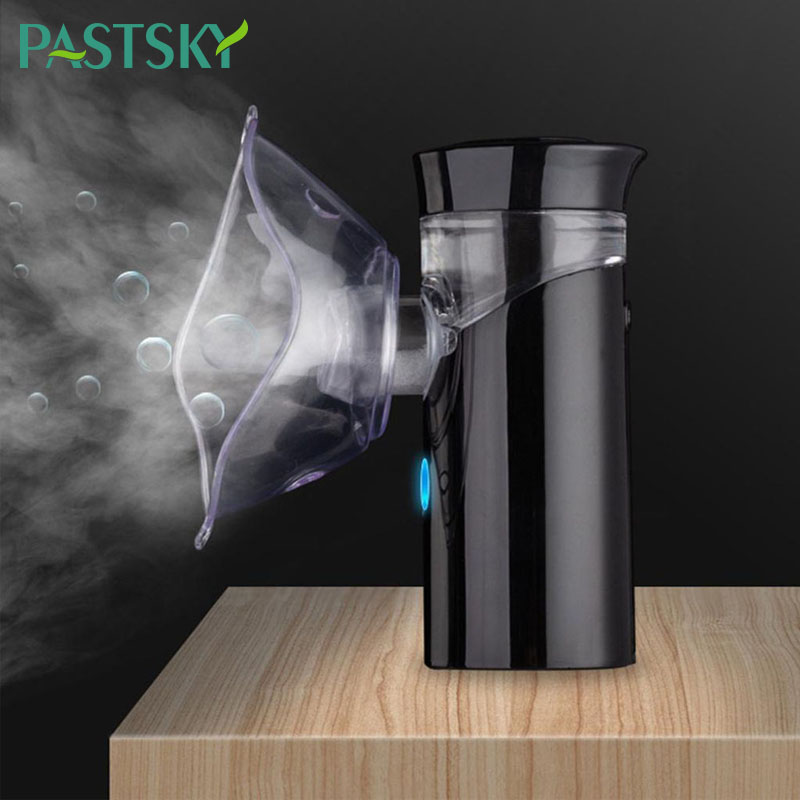 Handheld Ultrasonic Nebulizer Portable Mute Asthma Inhaler Atomizer USB Rechargeable Mini Medical Nebulizer for children health