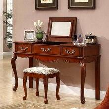 Роскошный туалетный столик с ящиками магазина и спрятать зеркало и мягкий стул Лидер продаж WA629