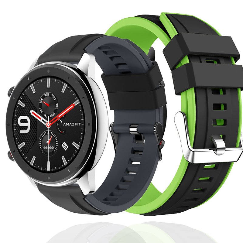 Sport Strap For Huawei Watch GT Active Honor Watch Magic Bracelet 22mm Silicone Wrist Strap For Xiaomi Huami Amazfit GTR 47mm 47