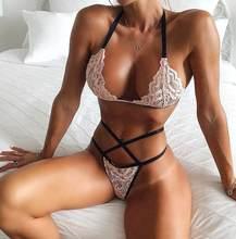 Dslr europeu e americano quente-venda de três pontos sexy push-up laço cruz cinta sutiã conjunto de roupa interior