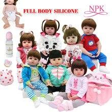 Brinquedo de corpo inteiro silicone à prova de água banho brinquedo popular reborn da criança bebê bonecas bebe boneca reborn lifelike presente com pérola garrafa
