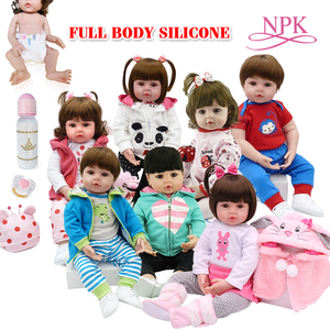 Toy Full body silicone water proof bath toy popular reborn toddler baby dolls bebe doll reborn lifelike gift with pearl bottle