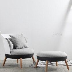 Nowoczesny skandynawski pojedyncza sofa sypialnia mały apartament dmuchana sofa Ins tkanina balkon fotel wypoczynkowy z podnóżkiem na