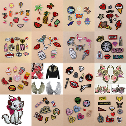 Embroidery Sew On Iron On Patch Clothes Patches Badge Fabric Bag Clothes Applique Craft Transfer DIY