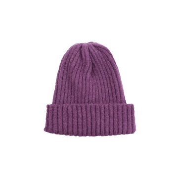 цена на Children's Knitted Hat Boys and Girls Autumn and Winter Solid Color Wool Hat Candy Color Casual Wild Warm Hat Baby Hats  Unisex