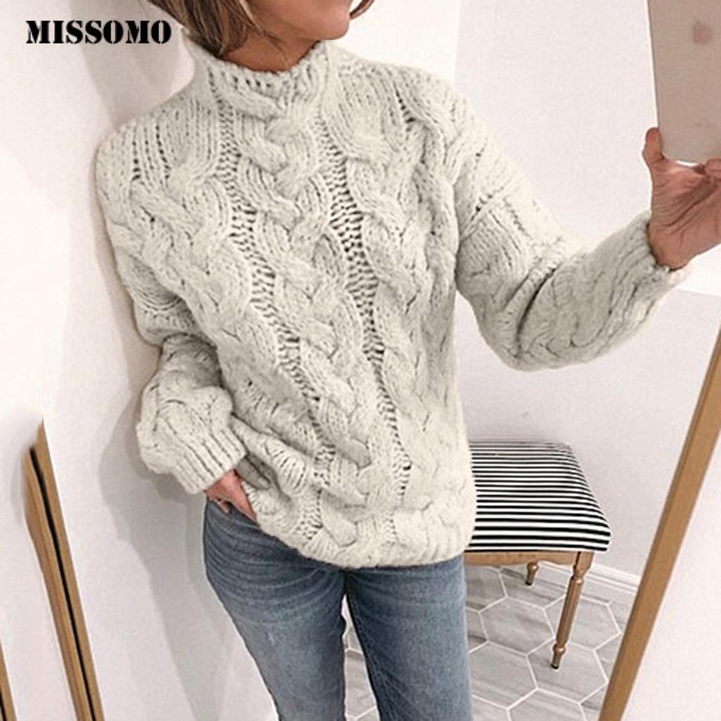 MISSOMO Autumn Winter Knit Sweater Women Pullover Turtleneck Casual Slim Fit Long Sleeve  Elastic Short Sweaters Pull Femme 10